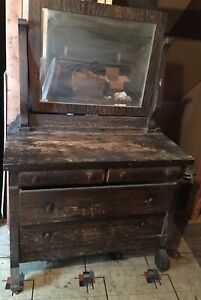 Antique Dresser With Mirror 2 Piece Local Pickup Only