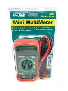 Digital Multimeter By Extech Model Mn25 Measures Ac dc Voltage Free Shipping