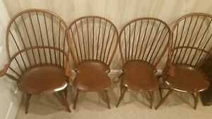 4 D R Dimes Bowback Windsor Chairs 2 Armchairs 2 Side Chairs Shipping Available