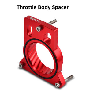 Red Throttle Body Spacer For Chevy Silverado 1500 2500 3500 4 8l 5 3l 6 0l 99 07