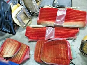1967 69 Camaro Vintage Red Seat Covers Coupe Front And Rear Complete Custom