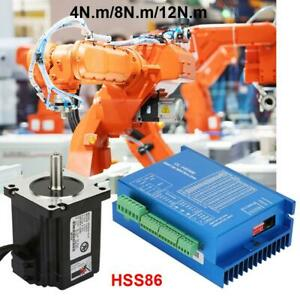 Closed Loop Stepper Motor 4n m 8n m 12n m Hybrid Servo Driver Kits Hss86 200w Us