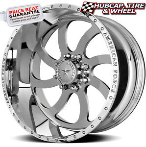 American Force Blade Ss8 Mirror Polished 26 X14 Wheels Rims 8 Lug Set Of 4 New