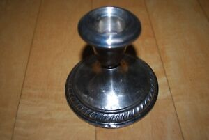 Wallace Sterling Silver Marked Weighted Candlestick Candle Holder Scrap Only