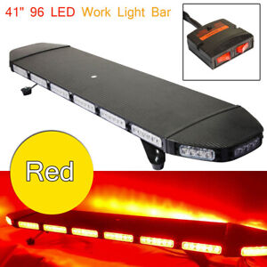 Emergency Strobe Light Bar Security Beacon Warn Tow Truck 96 Led 41 red