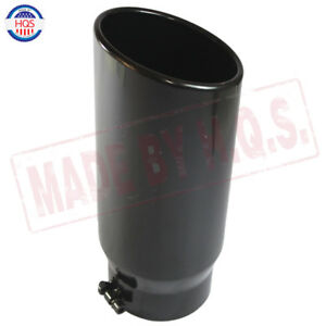 Exhaust Tip Rolled End Angle Cut Tail Pipe 5 Inlet 6 Outlet 15 Inch Length