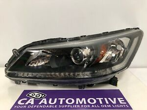 2013 2014 2015 Honda Accord Sedan Headlight Driver Left Halogen Oem F26