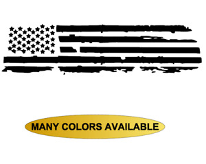 Distressed American Flag Truck Rear Window Decal Fits Dodge Ram 1500 2500