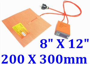 8 X 12 200 X 300mm 600w W Digital Control 3m Psa Thermistor 3d Printer Heatbed
