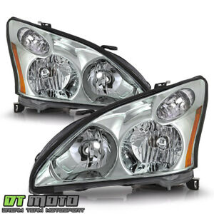 For 2004 2009 Lexus Rx330 Rx350 Rx400h Halogen Headlights Headlamps Left right