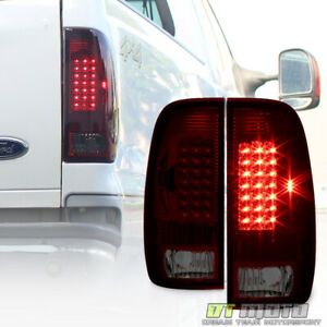 1999 2007 Ford F250 F350 Sd 1997 2003 F150 Red Smoke Led Tail Lights Brake Lamps