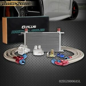 Gplus Universal 19 Row An10 Oil Cooler Kit Oil Filter Relocation Adapter Kit