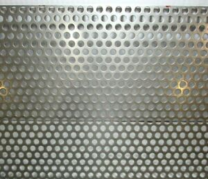 3 8 Round Hole 16 Gauge 304 Stainless Steel Perforated Sheet 17 1 2 X 26 1 2