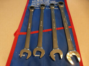 4 Pc Metric Extra Long Ratcheting Wrench Set 17mm 18mm 18mm 20mm Westward 1lcd1g