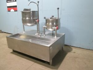 cleveland Hd Commercial Direct Steam 6 12 Gal Steam Jacketed Kettles Station