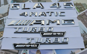 Gla45 amg Turbo 4 Matic Letters Trunk Embl Badge Sticker For Mercedes Benz