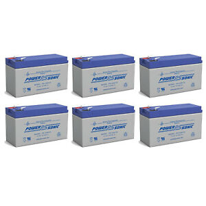 Power-Sonic 12V 9AH Battery Replaces Lowrance Portable Fish finder - 6 Pack