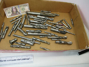 Lot 50 Pcs 8 Pounds Hss End Mill S Bits Cutter Many Sizes Better Used