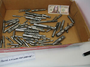 Lot 70 Pcs 9 Pounds Hss End Mill S Bits Cutter Many Sizes Ok Used Cond