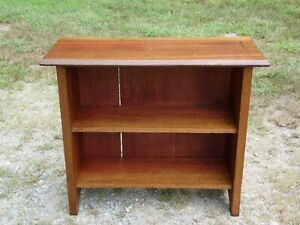 Vintage Solid Wood Bookcase Open Shelving Unit Bookshelf Display Shelf