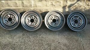 1957 Chevy Wheels Rims Original One Year Wheel No Slots 14 X 5 Chevy Rally