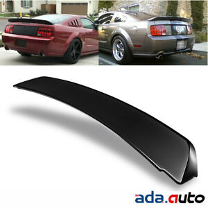 Black Ducktail Style Rear Trunk Spoiler For 2005 2009 Ford Mustang Gt500