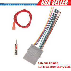 Car Stereo Cd Player Radio Wiring Harness Antenna Adapter For 00 19 Gmc Chevy Us