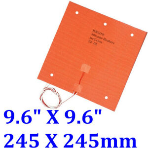9 6 X 9 6 245 X 245mm 350w Ultimaker Clone Cl260 3d Printer Heatbed Heater Pad