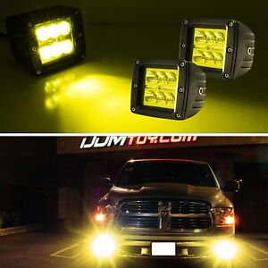 Yellow Lens 2x3 3 24w High Power Cree Led Cubic Pod Lights For Truck Jeep Atv