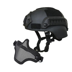 Tactical Airsoft Paintball Protective Combat FAST Helmet Riding Gaming w Gloves $30.71