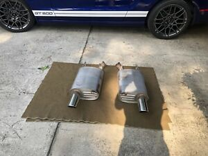 2010 2014 Ford Mustang Gt Oem Axle Back Rear Exhaust Mufflers W Chrome Tips