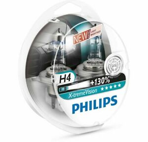 Philips X Treme Vision 130 Halogen Headlight Bulb H4 12342xv S2 12v 55w