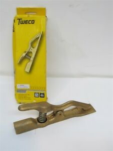 Tweco Fgc 500 500 Amp Flat Jaw Ground Clamp 1 1 4 Opening 4 0 Awg