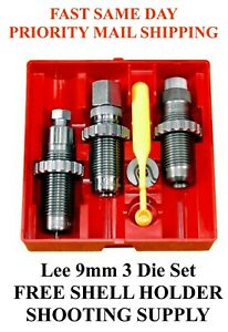 LEE Carbide 3 Die Set 9mm Luger 9mm Parabellum 9x19mm 90509 FAST SAME DAY SHIP $66.99