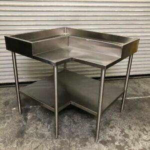 48 All Stainless Steel Iced Display Work Prep Table Station Nsf 2622