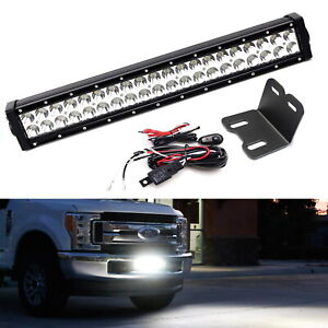 Lower Grille 20 Led Light Bar Kit W Brackets Relay For 2017 Up Ford Superduty