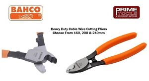 Bahco Heavy Duty Cable Wire Cutter cutting Stripping Pliers 160 200 Or 240mm
