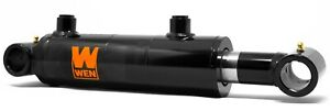 Wen Wt2008 Cross Tube Hydraulic Cylinder With 2 inch Bore And 8 inch Stroke