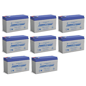 Power-Sonic 12V 9AH Battery Replaces Lowrance Portable Fish finder - 8 Pack