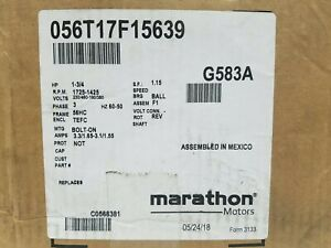 Marathon Xri Ac Induction Motor G583a 4 in 1 3 phase 1hp 230 460 New Open Box
