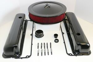 Ford Fe Black Engine Dress Up Kit Valve Covers Red Washable Air Cleaner 390 427