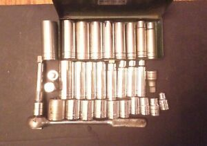 Sk 1 2 Drive Socket Set with Ratchet Extension And Reducer Not A Matching Set