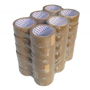 36 Rolls Carton Sealing Brown tan Packing Tape Shipping 2 Mil 2 X 110 Yards