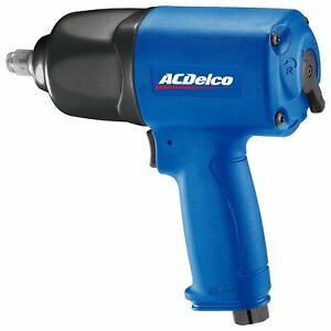 Acdelco 1 2 Inch Composite Pneumatic Impact Wrench 650 Ft Lbs Twin Hammer