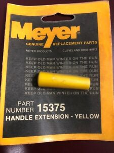 Meyer Snow Plow Handle Extension Yellow Part 15375