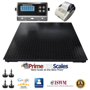 5 Year Warranty 9 500 Lb 40 x40 Floor Scale Pallet Warehouse With Printer