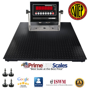 New Floor Scale 48 x48 4 x4 Ntep Legal For Trade 1 500 X 5 Lb Indicator