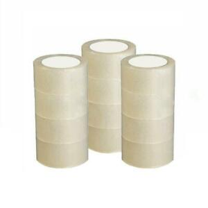 12 Roll Clear Carton Sealing Packing Shipping Tape 2 7 Mil 1 8 60 Yard 180 Ft