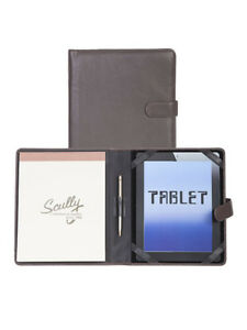 Scully Leather Tablet Cover Padfolio Chocolate 57 11 25 f