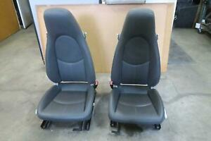 2005 2012 Porsche Boxster Front Seat Set Bucket Airbag Leather Oem